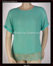 City Chic Green Lace Detail Top Size 18 (Medium) NWOT Corporate Smart Casual