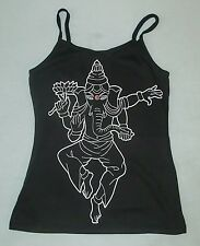 Ganesh small black spaghetti strap top