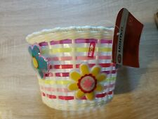 Schwinn Girls Bicycle Basket, Kids Front Bike Accessory lighted flashes new