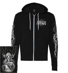 Arch Enemy MMXX Zip Hoodie S-XXL Black Hooded Sweatshirt Official Hoody