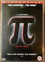 Pi DVD 1998 Darren Aronofsky Cult Film Movie Classic π