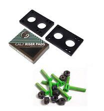 """Cal 7 1.5"""" Green Hardware + 1/4"""" Riser Pads"""