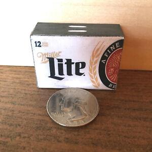 "1:6 Handmade miniature toy for 11""-12"" fashion dolls – Miller Lite beer case"