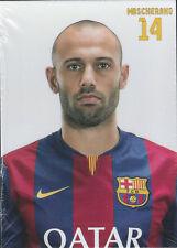 Postal postcard 14 MASCHERANO  jug.  FC BARCELONA 14/15