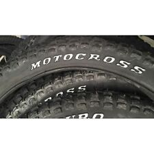 "OLD SCHOOL BMX ALL BLACK KNOBBY ""MOTORCOSS"" TYRES BY DURO IN PAIRS"
