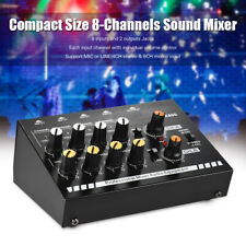 8-Channels Stereo Audio Sound Line Mixer Ultra Low-noise Compact Y9T4