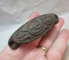 Antique embossed iron drawer pull, handle