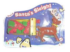 CBEEBIES XMAS WIND UP SANTA'S SLEIGH WITH REINDEER & PRESENTS CHRISTMAS GIFT NEW