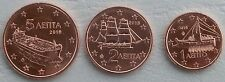 1+2+5 Euro Cent Griechenland 2016 unz