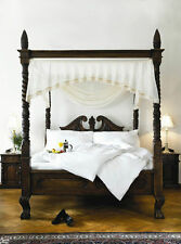 BESPOKE SUPER EXTRA LARGE Queen Anne stile quattro Poster St James MOGANO Canopy BED