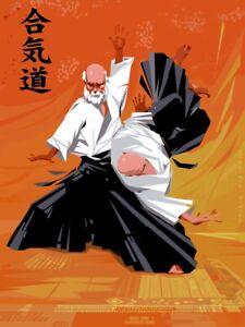 AIKIDO throw technique Kaiten Nage POSTER