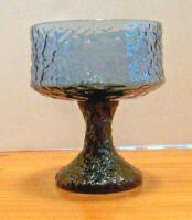 "Lenox Impromptu Hand Blown Crystal Glass Dark Blue Champagne Sherbet 4-5/8"" Tall"