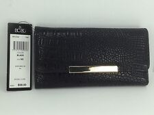 Women's BCBG PARIS Brand Black Scales TriFold Wallet - $58 MSRP - 10%