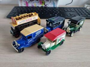 5 vintage model vans and buses (Lledo, Matchbox) (list in description)