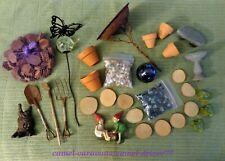 30+ Fairy Garden Miniatures Tools Birdbath Stepping Stone Gnome Gazing Ball Frog
