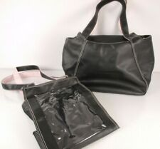 Mary Kay Leather Bag Purse Tote Lot of 2 Black Pink Large Shoulder Weekend