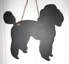 Caniche pizarra Kennel Cartel Cumpleaños Navidad Juguete Perro Mascota Cachorro Mascota