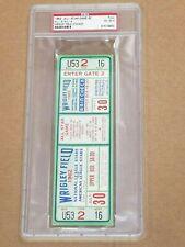 BASEBALL ALL STAR FULL TICKET - 1962 - CHICAGO CUBS  WRIGLEY FIELD - PSA GRADED