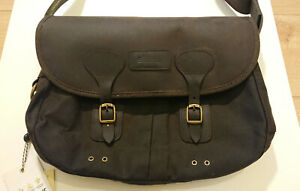 Barbour Tarras Bag in Olive Waxed Cotton and Leather. Rare. Brand New with Tags!