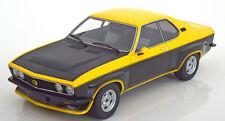 1975 Opel Manta A TE2800 Yellow/Matt Black by BoS Models LE of 1000 1/18 Rare!