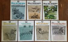 Vintage Oliver Farm Machinery Equipment Brochures 1970's