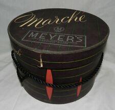 Vintage Marche Hat Box with 2 Black hats