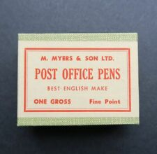 Boite scellée plume MYERS & SON No 1896F Post office pen nibs box pennini