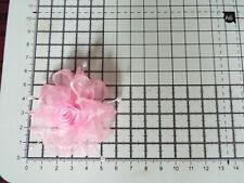 UK-Pink -Organza Ribbon Flowers-  Appliques,Trimmings ,Wedding- 50 mm x 1