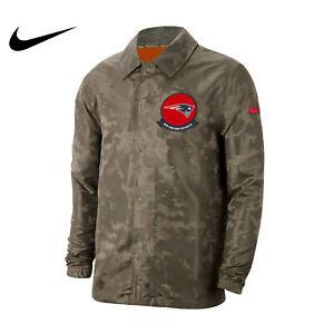 New England Patriots Nike Camo 2019 Salute to Service Sideline Jacket Size XL