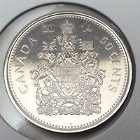 2014 Canada Fifty 50 Cents Half Dollar Uncirculated Canadian Coin B984