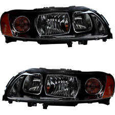 Headlamps Headlights Headlight Assembly (w/Bulb) Pair Set for 05-09 Volvo S60