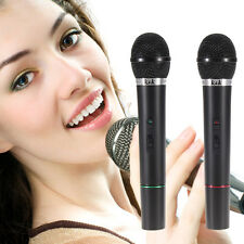 Pro Dual Wireless Cordless DJ Karaoke Public Address Sing Mic Microphone System