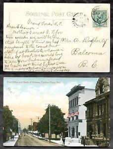 4551 - BALCOMO BC 1911 Split Ring Receiver on Carleton Place Postcard