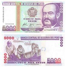 Perù 5000 INTIS 1988 P-137 BANCONOTE UNC