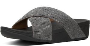 Fitflop Ritzy Slide Pewter Sandal Women's US sizes 5-11/NEW