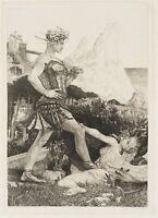 nach Max KLINGER(*1857), Die Zeit, aus: Vom Tode II, um 1900, Heliogravure