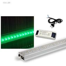 Set - 4x 50cm LED lichtleist with Transformer & ancillary, Under Counter Light, LEDs Green, Aluminium