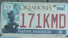 OKLAHOMA Native America 2016 license plate  171 KMD