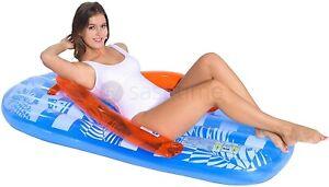 Inflatable Jumbo Flip Flop Sun Lounger Air Mat Lilo Swimming Pool Mattress Beach