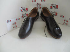 Brown all leather cycling shoes retro classic L'Eroica
