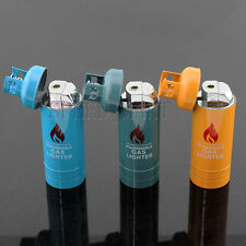 Metal Gas Tank Torch Lighter Refillable Butane Gas Windproof Cigarette Smoke NEW