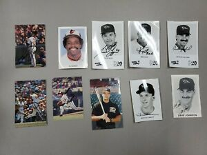 Lot of (10) Baltimore Orioles Autographed Signed Postcards Bumbry Segui Tippy