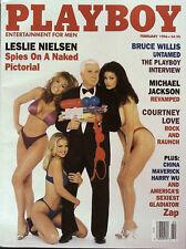 PLAYBOY US February 1996 SANDRA TAYLOR  Bruce Willis MICHAEL JACKSON @ New /Mint