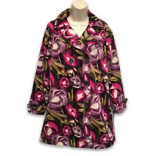 Missoni For Target Abstract Floral Velvet Trench Coat Juniors XL (Misses L) NWT