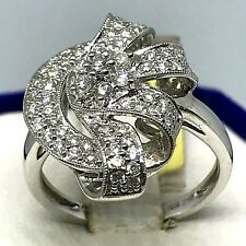 Heavy Duty~18K(750) White Gold~ .59CT~ APPROX G-H/VS2-SI1 Diamond Cocktail Ring