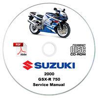 Suzuki GSX-R 750 2000 Service Manual CD