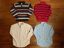 LOT Gymboree Chaps Boys Winter Church Button Shirt Red Sweater Top Clothes S 5-6