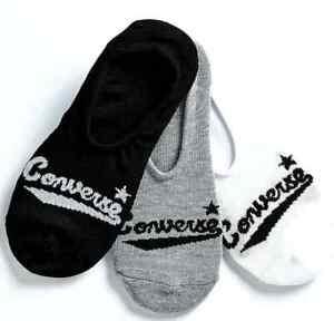 Converse Varsity Black, Grey & White 3 Pack No Show Socks $2.99 Ship