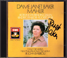 Janet BAKER Signed MAHLER Lieder Fahrenden Gesellen Kindertotenlieder BARBIROLLI