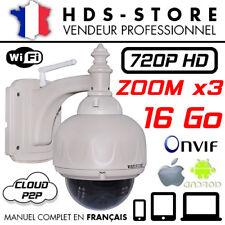 Camera Dôme IP Réseau Wanscam Hw0028 Zoom X3 HD 720p 16 Go Infrarouge Wifi ONVIF
